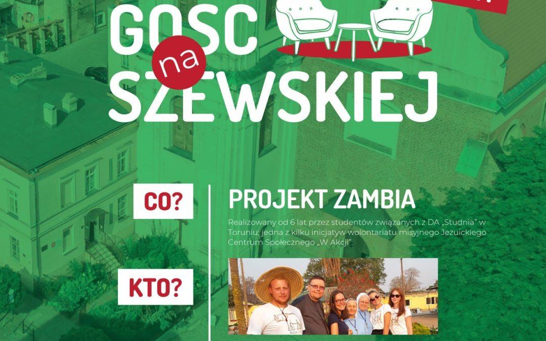 Projekt Zambia w Misji na Szewskiej – online na Facebook Live