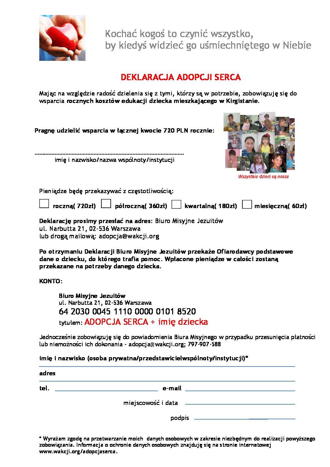Deklaracja Adopcji Serca
