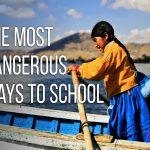 Przeprawa do szkoły - Peru